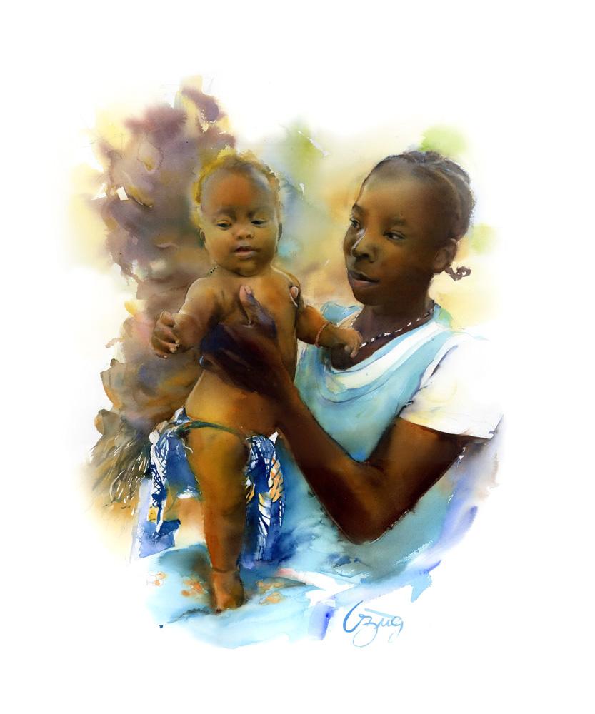 marie et sa fille Angélique Congolaises
